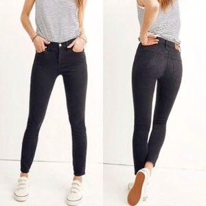 "Madewell 9"" High Riser Skinny Jeans in Lunar 28"
